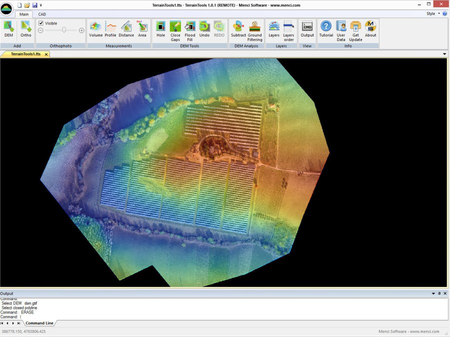 TerrainTools Menci Software - Drone mapping software free